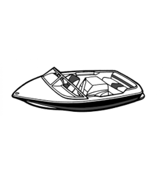 Nautique 211 Bow Rider with Flight Control Tower | 2004 - 2005  Waterline Fit - covers swim deck